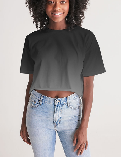 Smoke Ombre | Women's Sublimated Crop Top T-Shirt