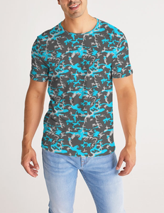 Sparse Neon Woodland Camo | Men's Sublimated T-Shirt