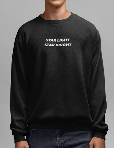Star Light Star Bright Black Crewneck Sweatshirt - OniTakai