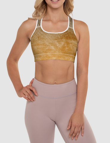 Stone Sunset | Women's Padded Sports Bra