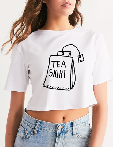 Tea Shirt | Women's Relaxed Crop Top T-Shirt