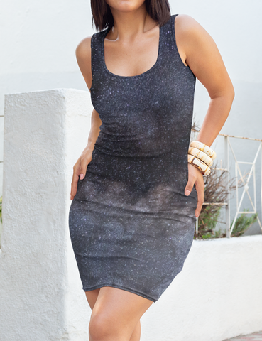 The Great Constellation Sleeveless Fitted Sublimated Dress