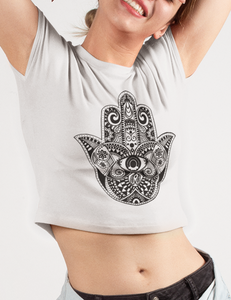 The Hamsa Crop Top T-Shirt - OniTakai