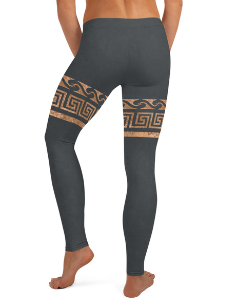 Thick Rustic Gold Ionic Belt Low Waist Yoga Leggings