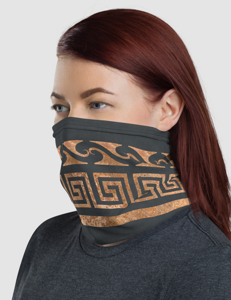 Thick Rustic Gold Ionic Belt | Neck Gaiter Face Mask
