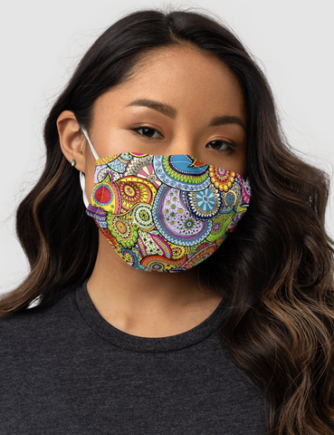 Tropical Paisley Premium Double Layered Pocket Face Mask - OniTakai