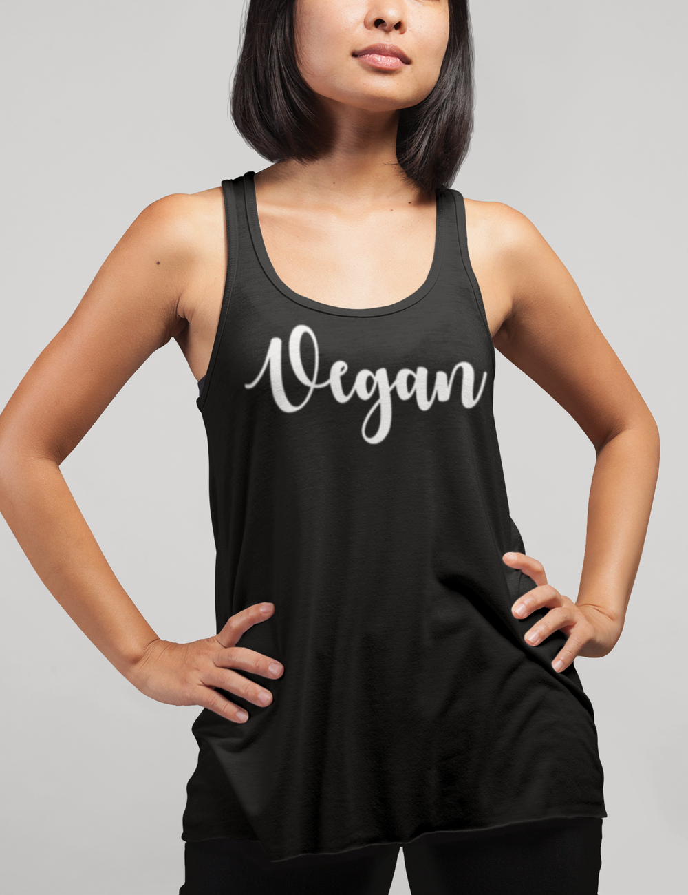 Vegan Women's Cut Racerback Tank Top