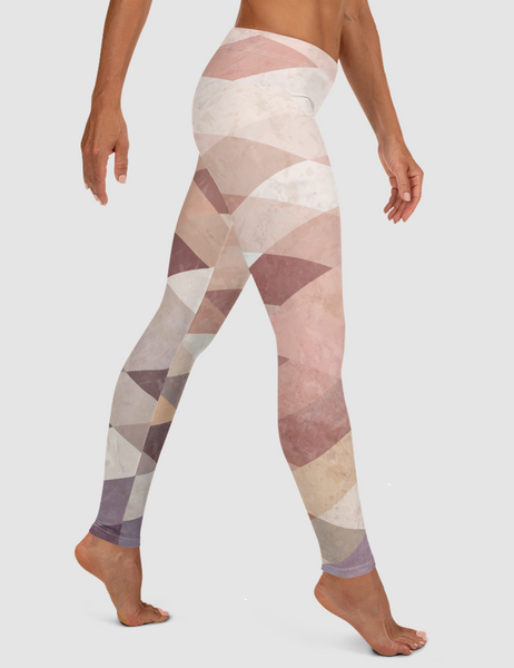 Vintage Geometric Tile | Women's Standard Yoga Leggings