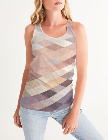 Vintage Geometric Tile | Women's Fitted Sublimated Tank Top