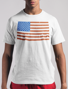 Distressed American Flag T-Shirt - OniTakai