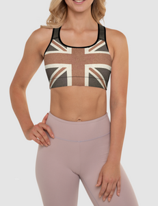 Vintage United Kingdom Flag | Women's Padded Sports Bra