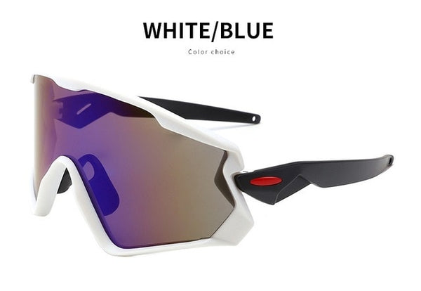 Men's Mountain Cycling Sunglasses White Blue