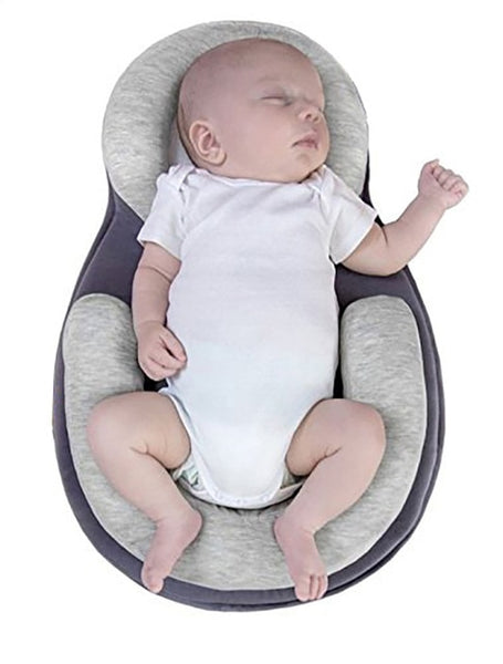 Portable Baby Crib for Travel Gray