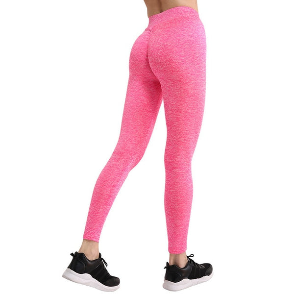 Women's Pink Push Up Leggings