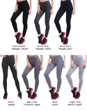 Women's Light Gray Push Up Leggings