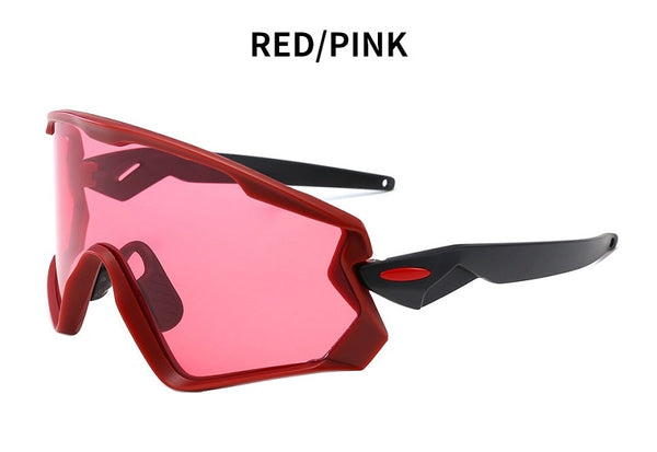 Men's Mountain Cycling Sunglasses Red Pink