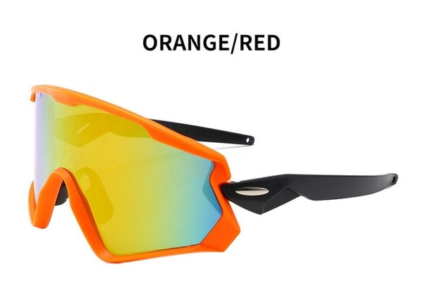 Men's Mountain Cycling Sunglasses Orange Red