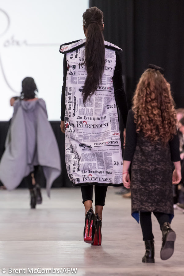 Extra, Extra - Newsprint/Fur Cape