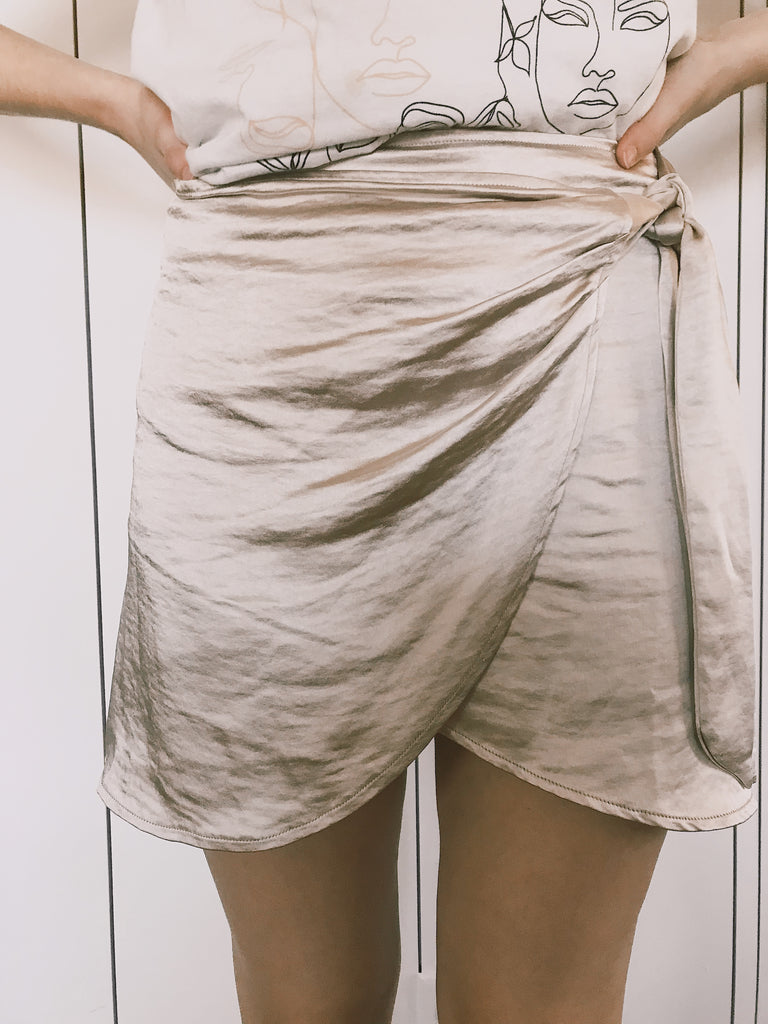 Bubbly Wrap Skirt