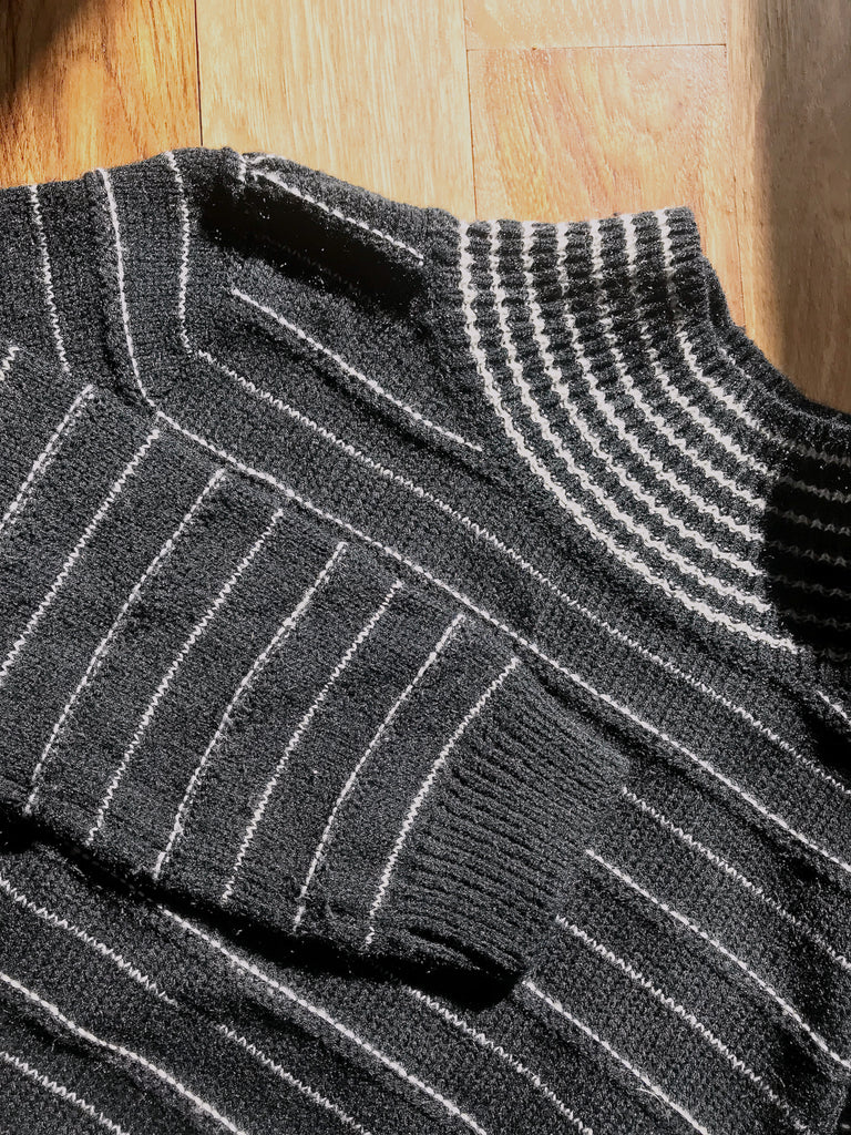 Out of Line Striped Turtleneck