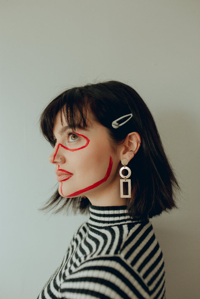 I Gotta Geo Geometric Drop Earrings