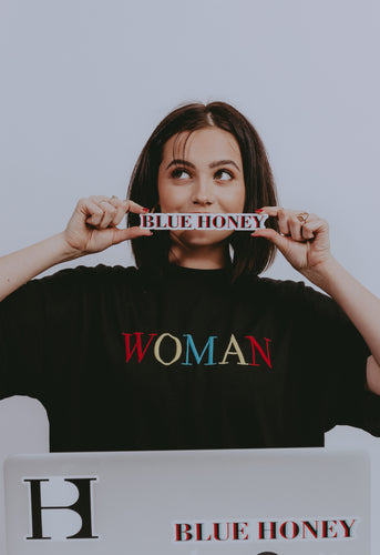Blue Honey Laptop Sticker