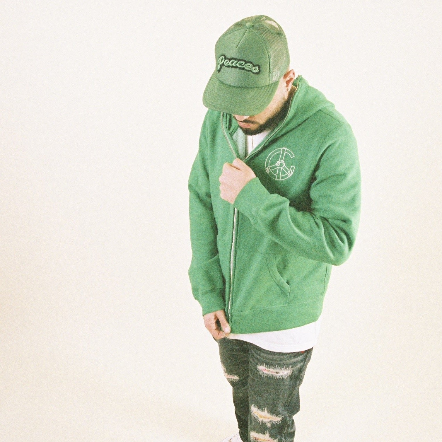 Kelly Green Unity Full Zip