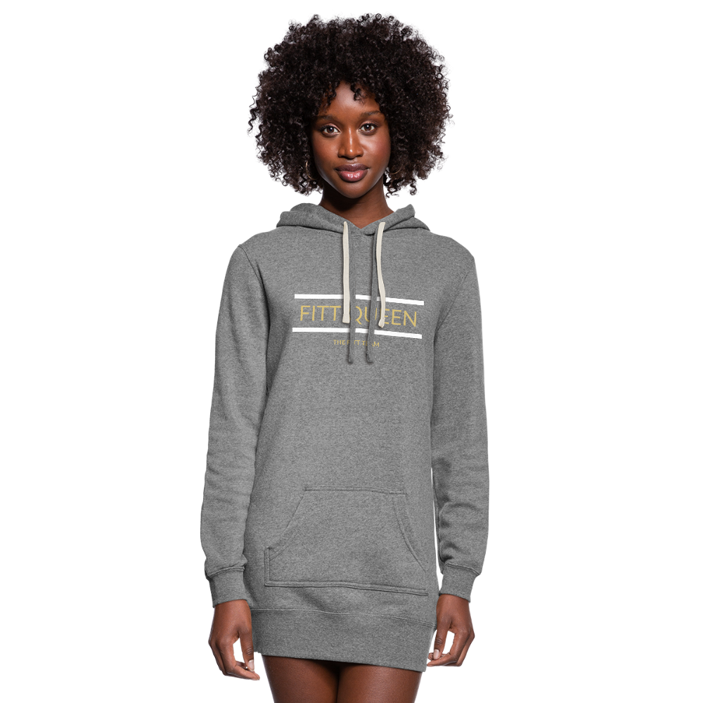 FITT QUEEN Hoodie Dress - heather gray