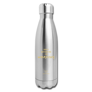 Don't Bother Me Sports Bottle - silver