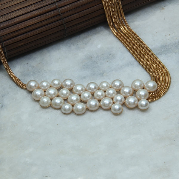 Modern Maharani Pearl Chain Necklace