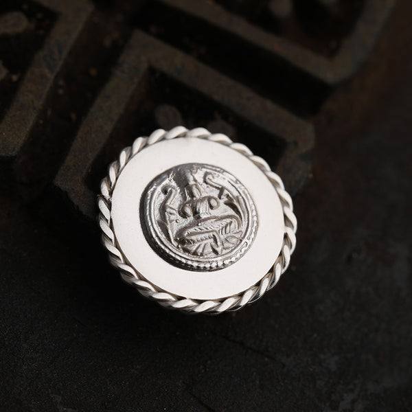 92.5 Sterling Silver Coin with entwined border and intricate goddess detailing