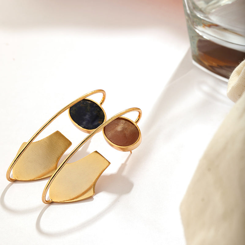 THE SUN AND EARTH IN EQUINOX- MISMATCHED EARRING