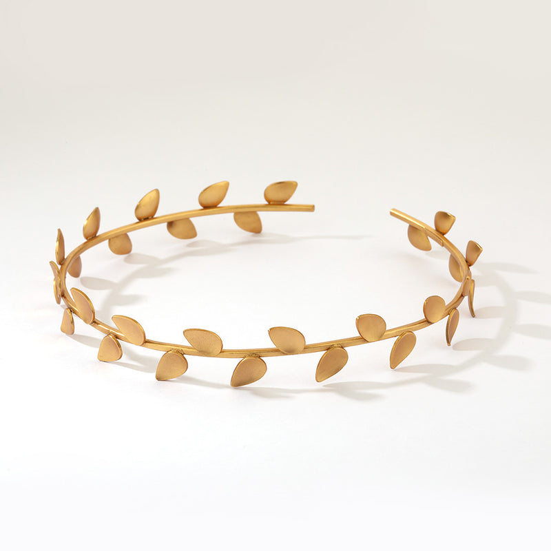 GOLD PLATED SERRATE CHOKER