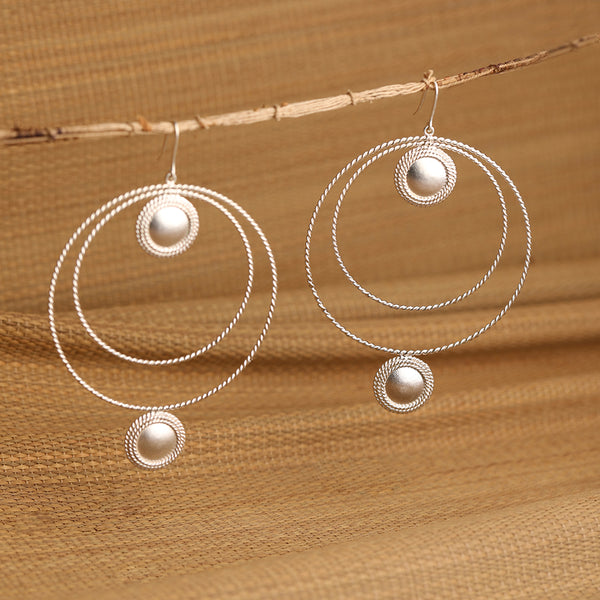 Timeless silver hoops