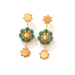 Phool & Chakra Drop Earrings