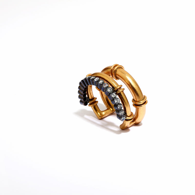 Golden Gather Stacked Ring