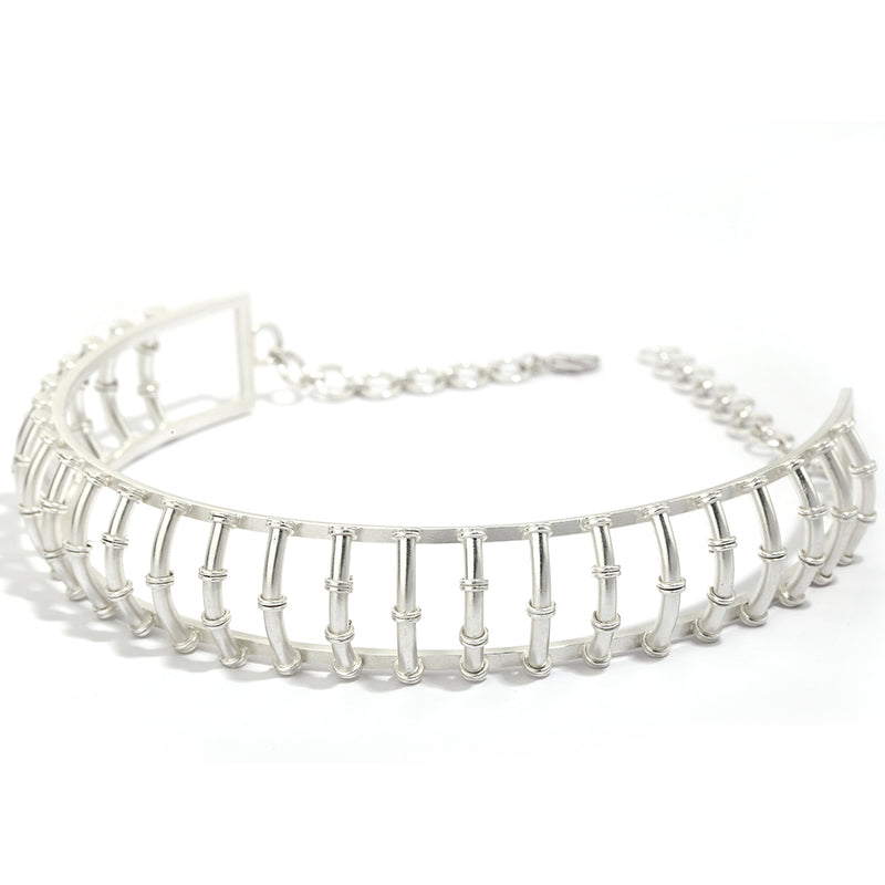 Idyllic Fields Choker in Silver