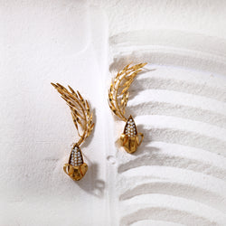 Gleaming maize bloom earring