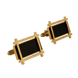 Golden & Black Hashtag Cufflinks