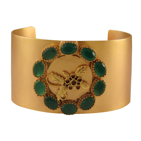 gold-cuff-with-green-crystals
