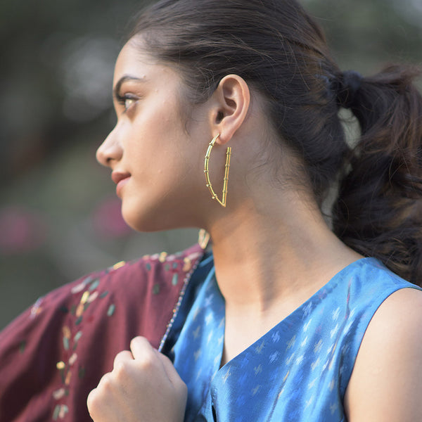 Idyllic Field Earring in Gold - Worn by Nivetha Pethuraj