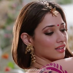 Mesmerizing Foliage & Leaves Earrings Worn by Tamannaah in Baahubali