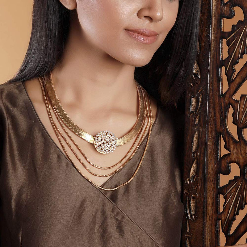 gold-layered-long-flat-chain-necklace-with-pearl-clusters
