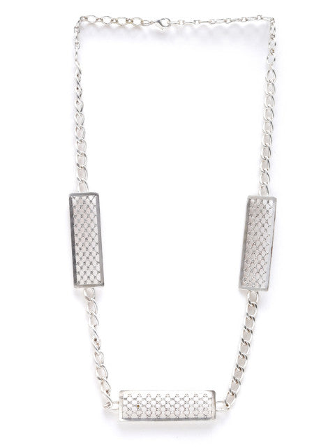 Silver-plated handcrafted necklace