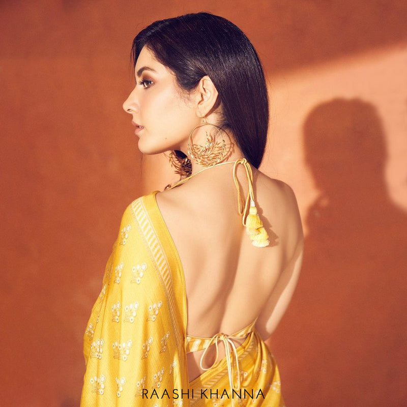 Blooming Orb drop earring worn by Raashi Khanna