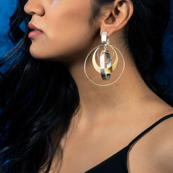 Mixed Metal Layered Hoop Earrings