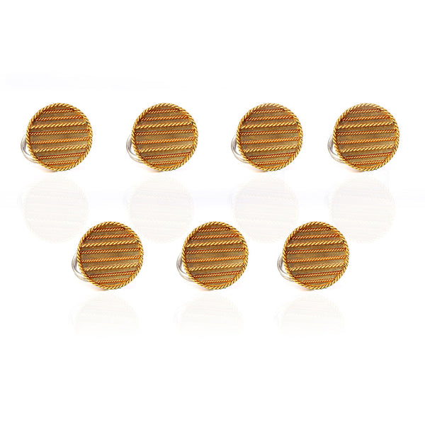 Gold Toned Circle & Lines Sherwani Buttons