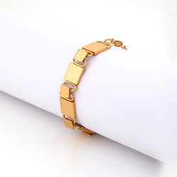 22k gold plated square chain bracelet.