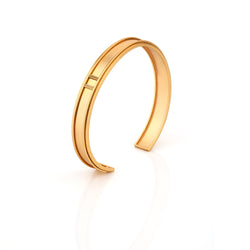22k gold plated cuff with twisted wire detail