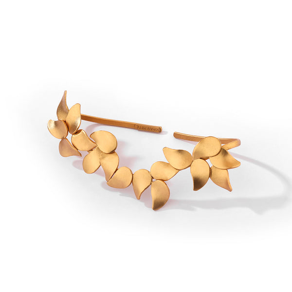 GOLD PLATED LEAVES PALM CUFF